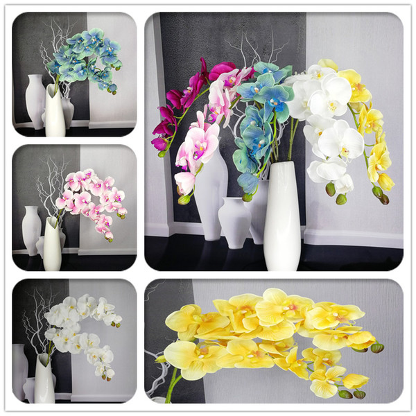2018 new artificial orchid flowers real touch artificial butterfly orchid flores artificiales wedding decoration home festival decoration