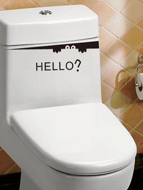 Peeking Monster Hello Print Toilet Stickers