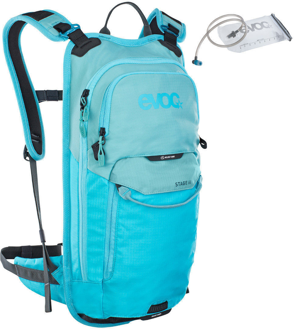 Evoc Stage 6L Backpack + 2L Hydration Bladder Turquoise Blue One Size