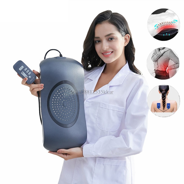 lumbar traction electric massager waist back vibration pulse massage physiotherapy infrared light heat therapy masage