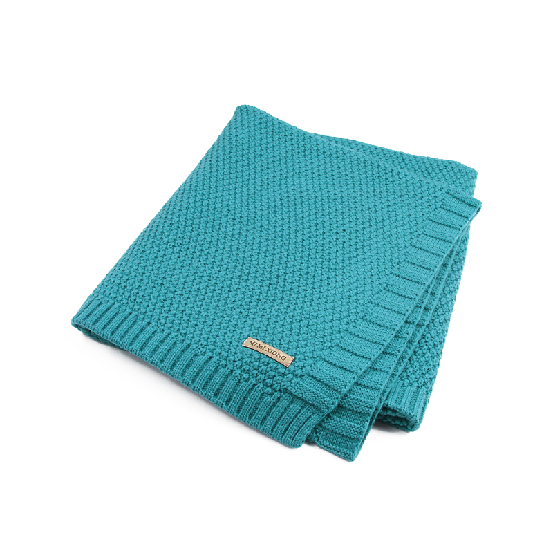 Comfy Solid Knitted Blanket for Baby