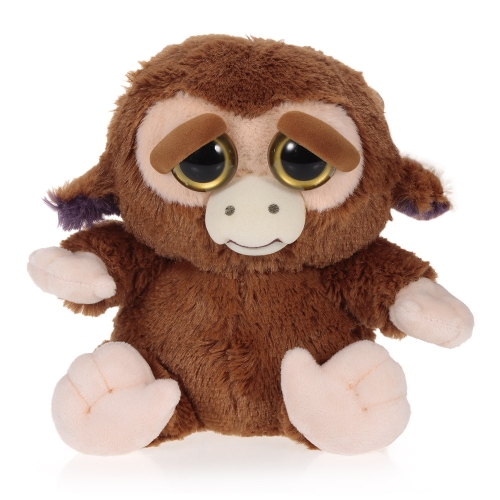 Feisty Pets Grandmaster Funk Adorable Plush Stuffed Monkey Turns Feisty with a Squeeze