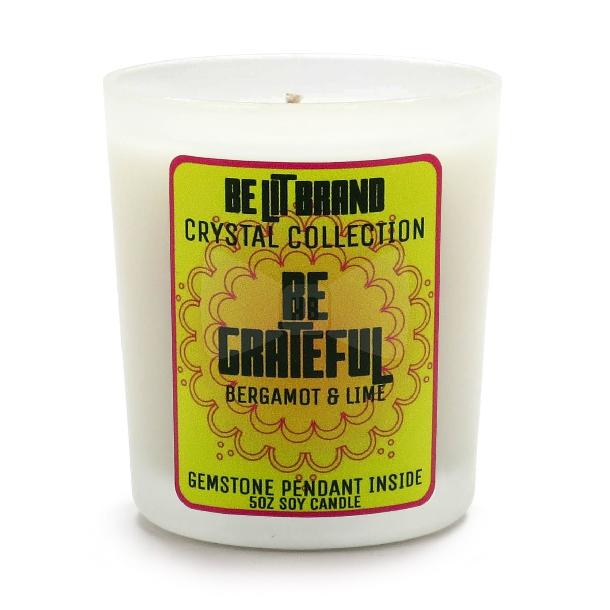 Be Lit 5oz Crystal Candle Be Positive
