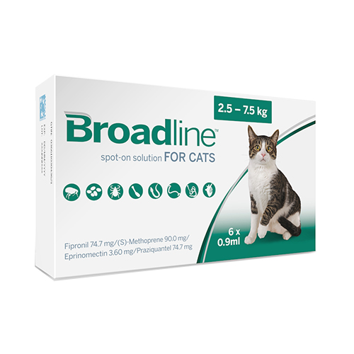 Broadline Spot-On Solution For Large Cats 5.5 To 16.5 Lbs 6 Pack