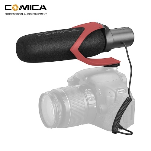 CoMica CVM-V30 PRO Super-Cardioid Directional Condenser Shotgun Video Microphone