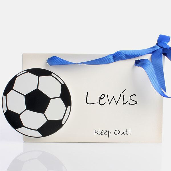 Football Personalised Room Sign