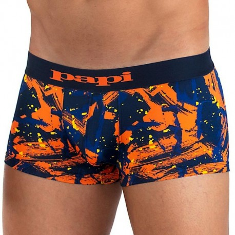 Papi Microflex Splatter Boxer - Blue - Orange S