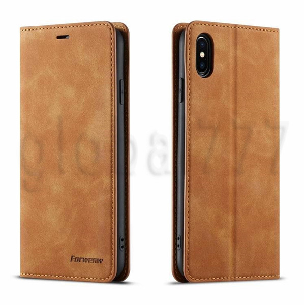 Original FORWENW Wallet Case Leather Bumper With Card Slot Flip Magnet Cover For iPhone 11 pro max XS max XR xs 8 7 Plus samsung HUAWEI P30