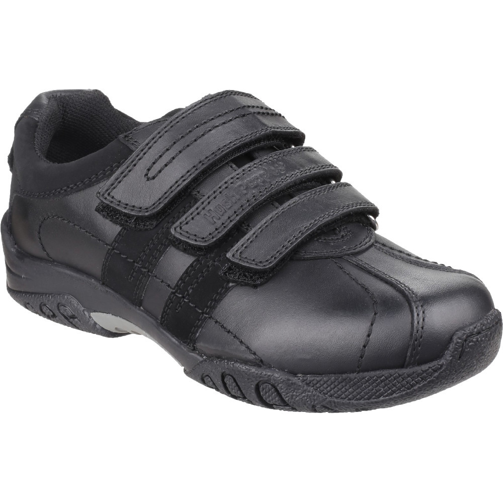 Hush Puppies Boys Seb Leather Padded Three Strap Velcro Shoes UK Size 13.5 (US 1  EU 32.5)