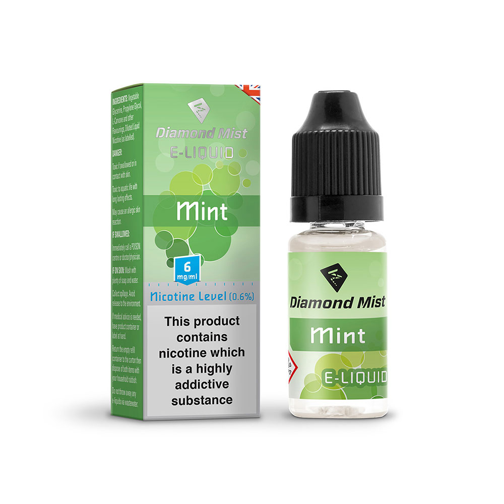Diamond Mist E-Liquid Mint 10ml -  6mg Nicotine