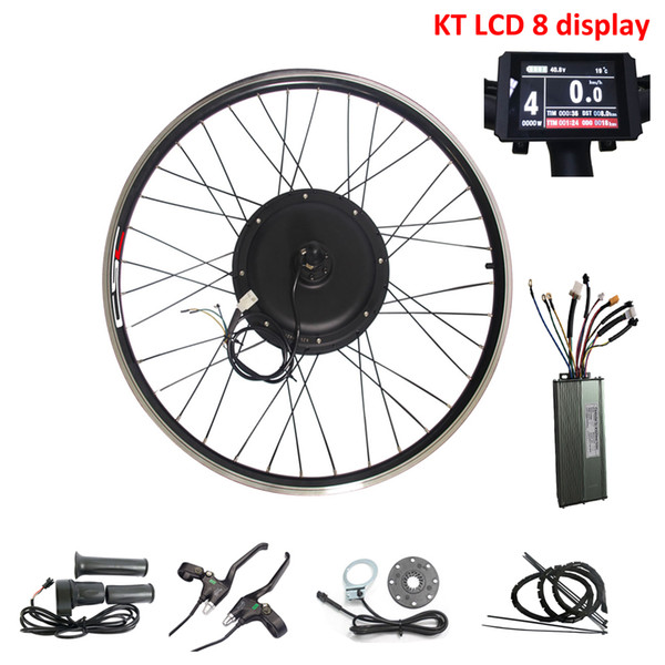 CSC 20-29 inch Electric bicycle Ebike Conversion Kit 48V 500W Brushless Gearless Hub Motor Wheel Kit ebicycle with KT LCD 8 display