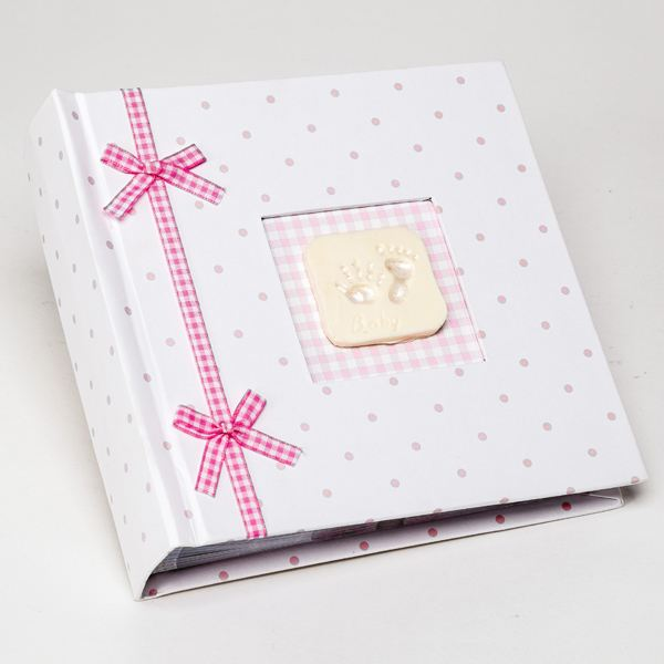Hand and Footprint Baby Girl Photo Album