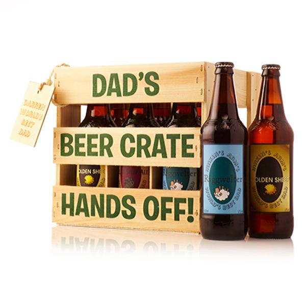 Personalised Wooden Dad's Beer Crate