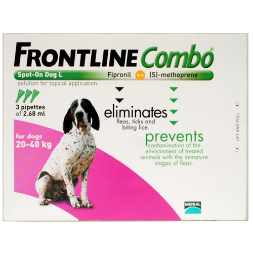 Frontline Plus (Combo) For Large Dogs 45-88 Lbs (Purple) 12 Pipette