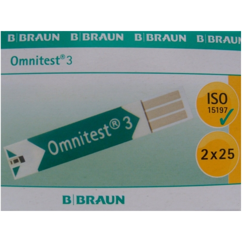 Omnitest 3 Blood Glucose Test Strips 50s