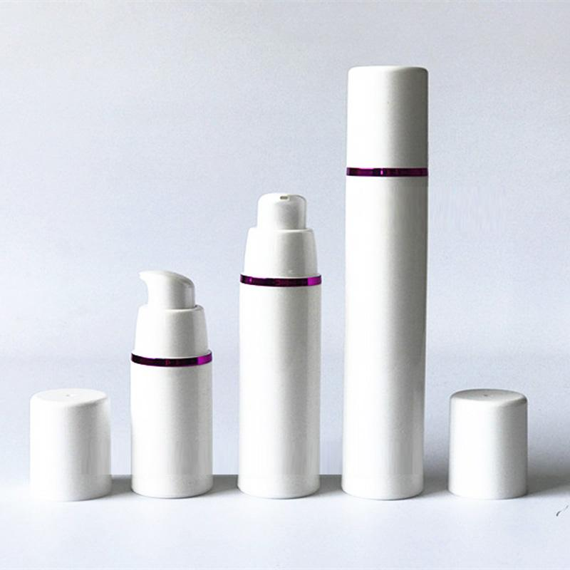 Wholesale 200pcs/lot Empty Lotion Airless Bottles Silver/Gold/Purple Line DIY Cosmetic Containe Serums Dispenser 15ml 30 50ml