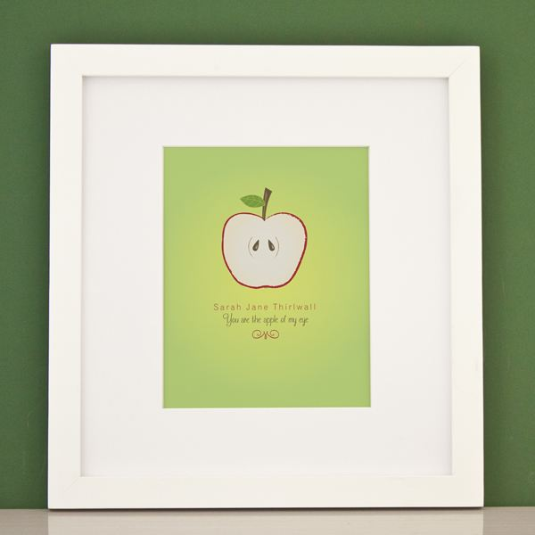 Personalised You Are The Apple Of My Eye Framed Print