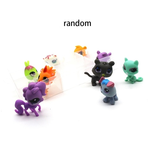 9Pcs/Set Mini Action Figures Collectible Vinyl Figure Cartoon Animal Toy Best Kids Gift for Home Decoration and Collection