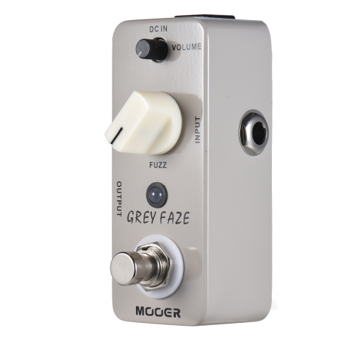 MOOER GREY FAZE Pédale d'effet guitare Fuzz True Bypass Full Metal Shell