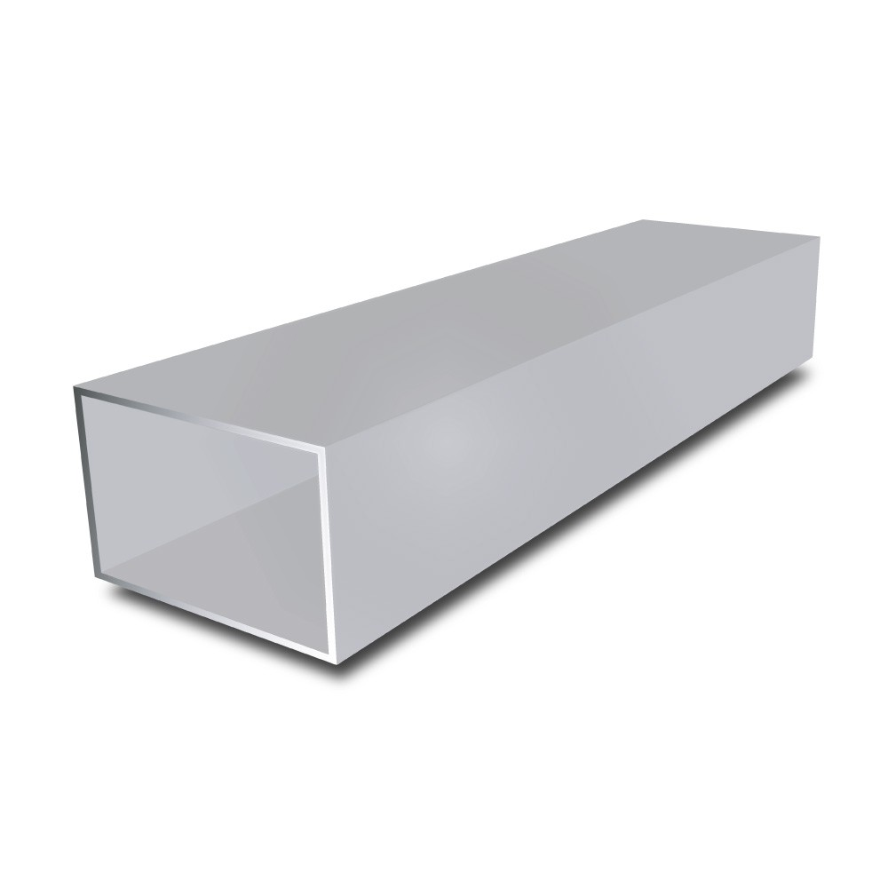 6 in x 2 in x 1/4 in - Aluminium Rectangular Tube - 5000 mm