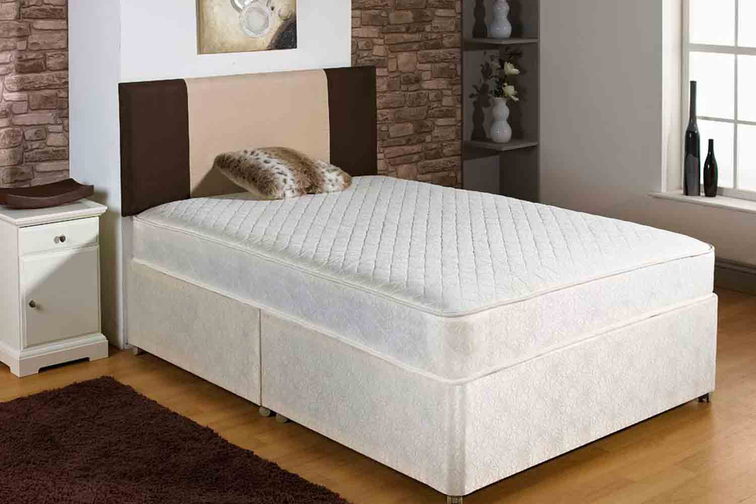 Joseph Diamond Pace Comfort Coil Spring Divan Bed -Small Double-End Opening Ottoman