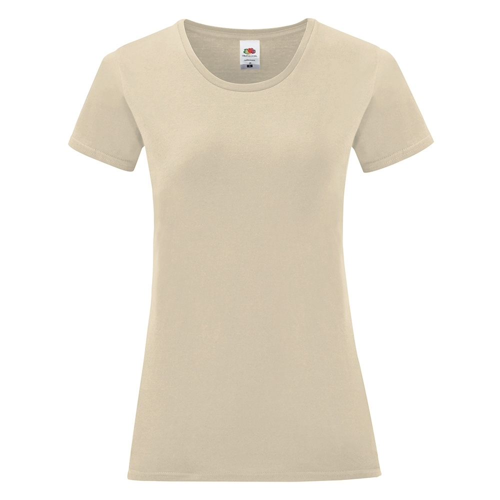 Fruit Of The Loom Womens Iconic 100% Combed Cotton T Shirt 2XL - UK Size 18