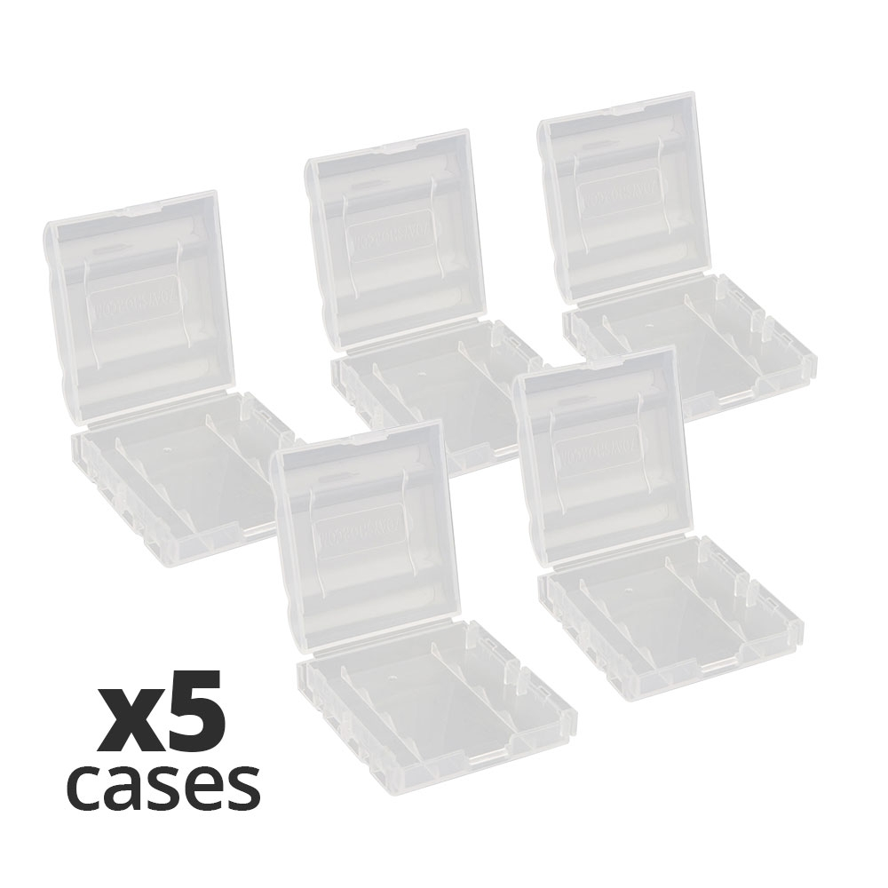 7dayshop AA AAA and 14500 Protective Battery Storage Cases - Value 5 Pack