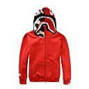 Déguisement Halloween Homme Shark Halloween Costume de Cosplay Halloween Mascarade Coton Noir Rouge Gris Costumes Carnaval / Sweat à capuche