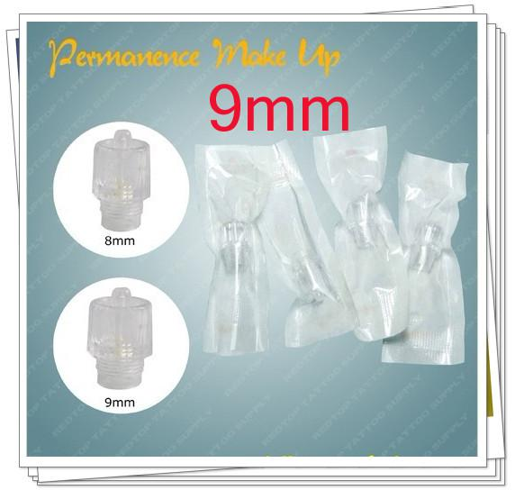 Hot!100x 9mm Permanent Makeup Disposable Machine Head Make-up Tubes Cosmetic Kits Supply