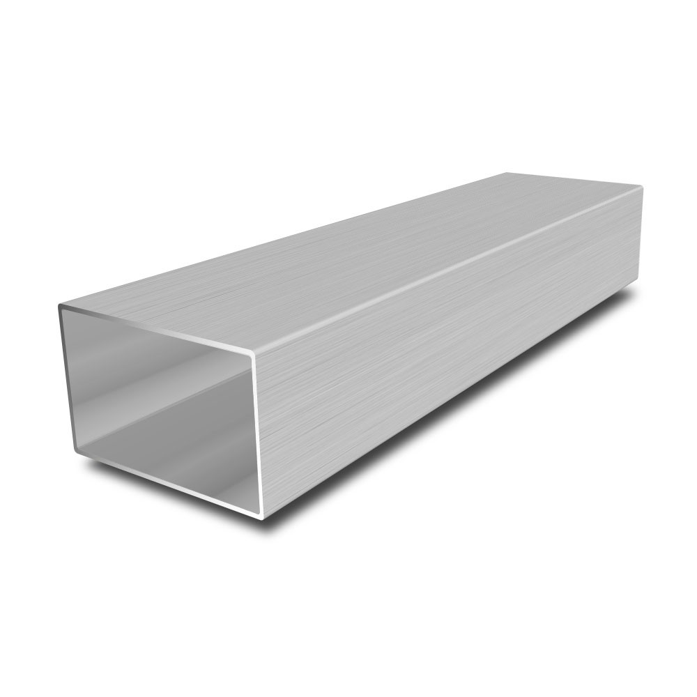 80 mm x 40 mm x 3 mm Stainless Steel Rectangular Tube - 3000 mm