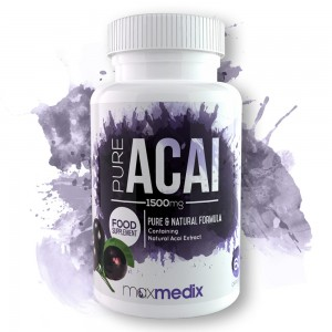 Pure Acai - Pure and Natural Acai Supplement - 1500mg 60 Capsules
