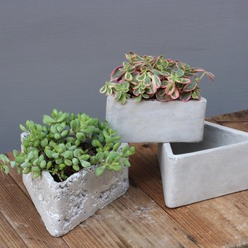 Triangle Cement Flower Pot