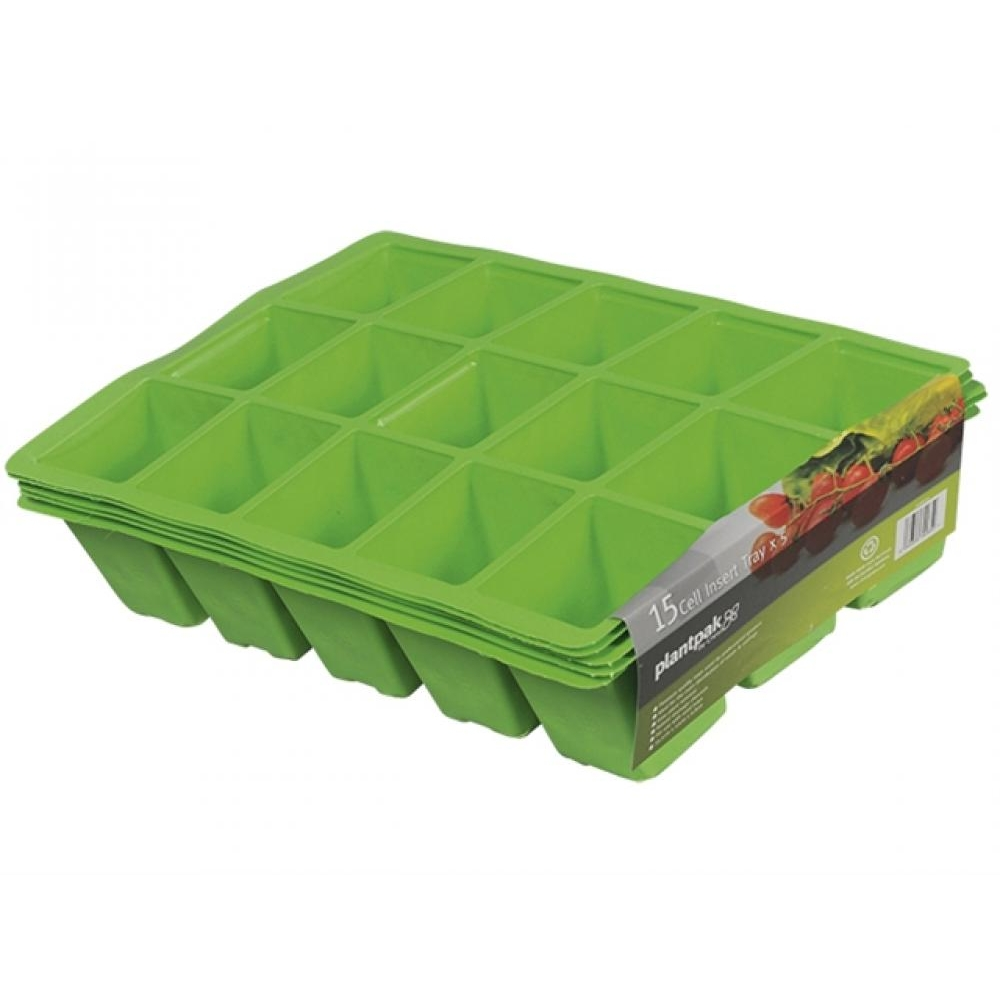 Plantpak Seed Tray Inserts 15 Cell 22 x Packs of 5