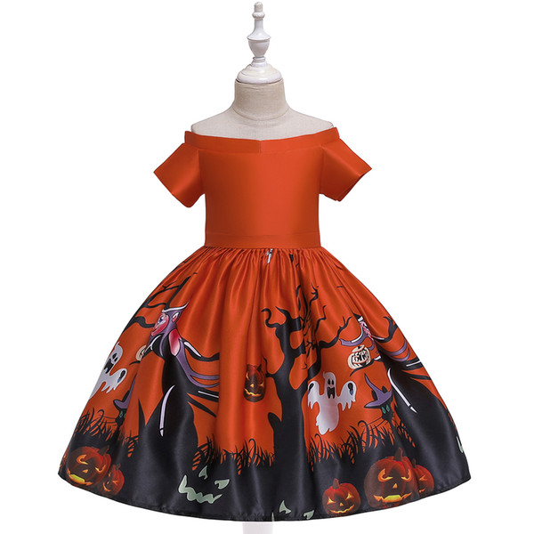 halloween party show playing costumes kids children cartoon clothes for performance halloween party girls cosplay dresses