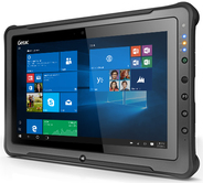 GETAC F110 G4 - Tablet - Core i7 7500U / 2.7 GHz - Win 10 Pro 64-Bit - 8 GB RAM - 256 GB SSD - 29.5 cm (11.6