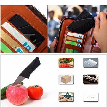 Multi-functional Card Folding Knife Plus Steel Sheet Credit Card Knife Outdoor Fruit Folding Knife