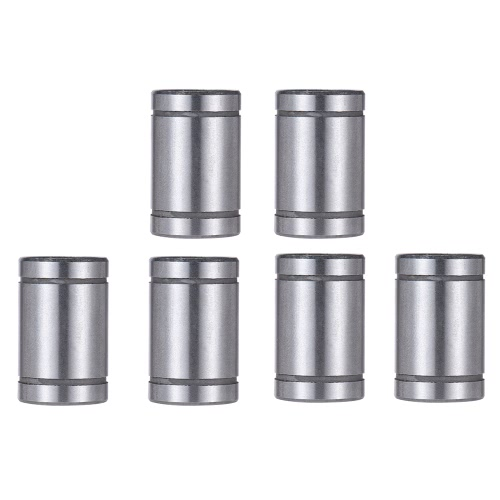 6pcs LM8UU 8mm Inside Dia Rubber Linear Ball Bearing Bushing for RepRap Prusa i3 Anet 3D Printer
