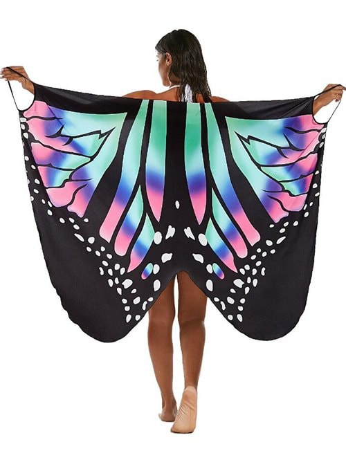 Butterfly Print Multi-way Sarong Cover Up