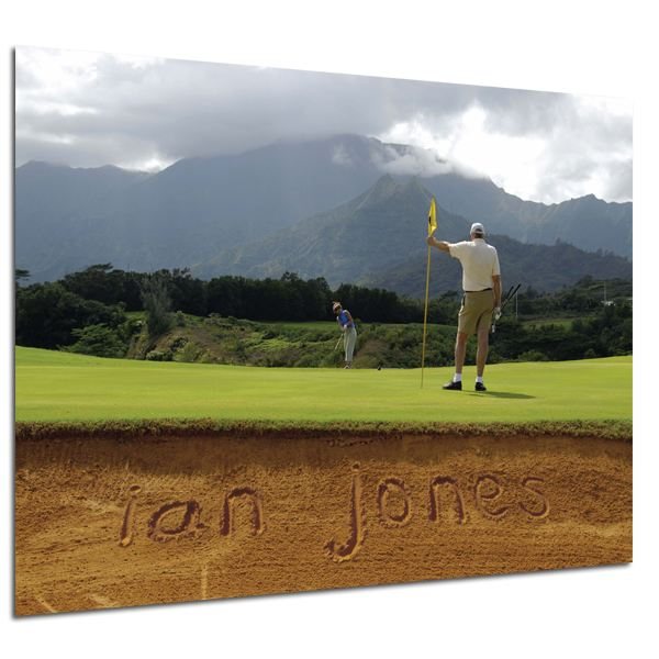 Personalised Golf Bunker Poster Poster Only