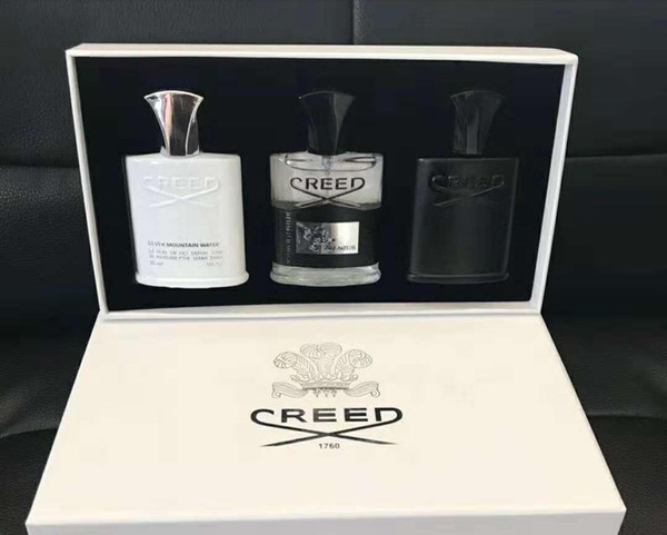 3pcs set Deodorant Incense Scent Fragrant Cologne for Men Silver Mountain Water/Creed aventus/Green Irish