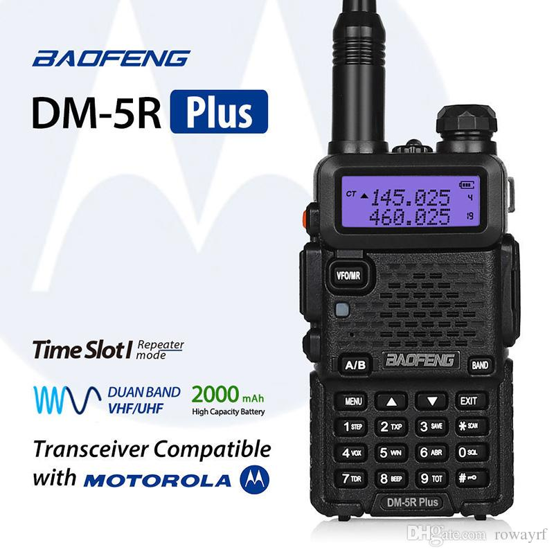 Baofeng DM-5R Plus DMR Digital Walkie Taklie Dual Band Transceiver VHF UHF 136-174/400-480 MHz Two Way Radio 2000mAH