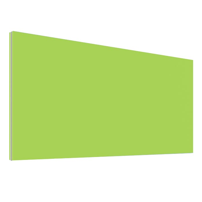 Office Desk Screen Lime Green 600mm Wide - Height 480mm