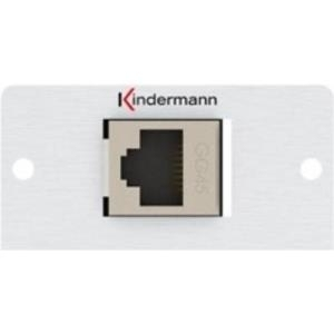 Kindermann Konnect 50 alu - Modulares Faceplate-Snap-In - GG45 (7444000424)