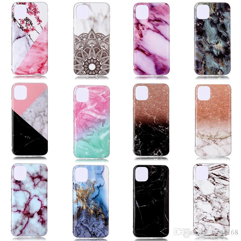 Marble Soft TPU IMD Case For Iphone 11 New 5.8 6.1 6.5 2019 Samsung Note 10 Pro Natural Granite Stone Rock Luxury Fashion Gel Phone Cover