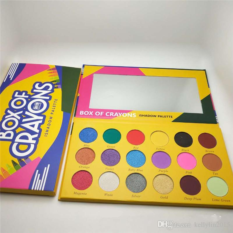 Box of Crayons Eyeshadow Palettes 18 Colors Makeup Shimmer Pigmented Matte Best Make up Eye shadow iShadow Palette Case