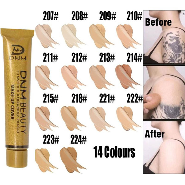 Skin Concealer Face Foundation Full Cover Professional Blemish Hide Dark Spot Tattoo Contour Makeup Liquid Cosmetic Concealer