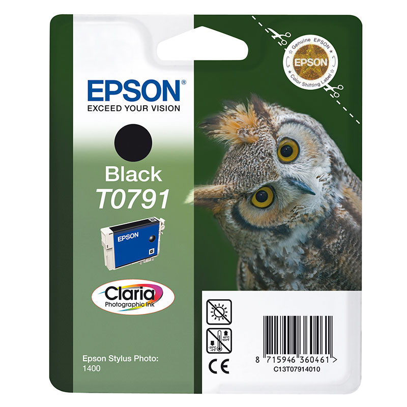 Epson Original T0791 Owl Ink Cartridge 10ml Black