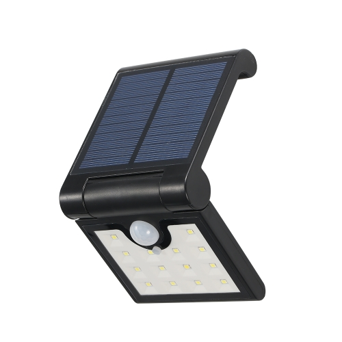 14LEDs Foldable Solar Powered Wall Lamp with PIR Motion Sensor