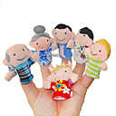 6 Pieces Delicate Figure Plush Finger Puppets Set