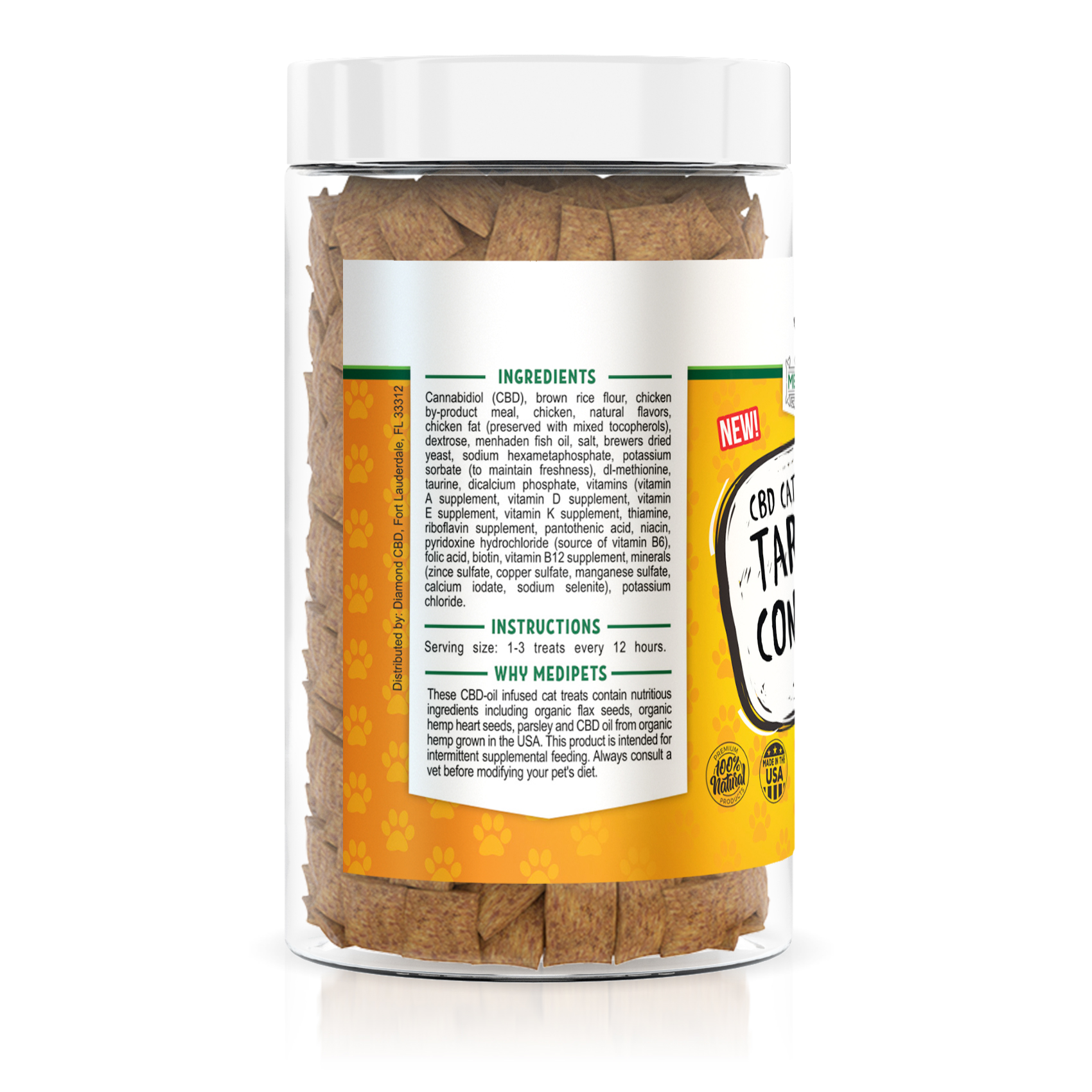 MediPets CBD Cat Treats - Cat Cafe´ Tartar Control - 100mg